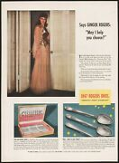 Vintage Magazine Ad 1847 Rogers Bros Silverplate 1940 Picturing Ginger Rogers