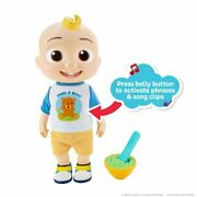 Cocomelon Deluxe Interactive Jj Doll Feed Dress Sing With Me Vegetables Song