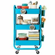 3-tier Metal Rolling Utility Cart With Handle Craft Art Carts And Extra Office