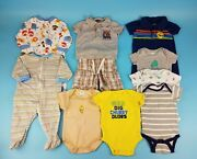 Child Of Mine Gerber Gymboree Baby Boys Size 3-6m Summer Mixed Clothes Lot Of 10