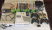 Xbox 360 Kinect Star Wars Edition 320gb Huge Bundle Four Controllers 28 Games