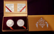2004 One Dollar 1oz Silver Peace, Sovereign Nation, Poarch Creek Indian 2 Coins