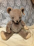 Antique Fully-jointed Mohair Teddy Bear W/glass Eyes 12andrdquo. Character Novelty Co.