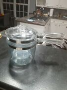 Pyrex 1.5 Qt Glass Double Boiler 3-pc Set 6283 Made In Usa Shipping Is Usps