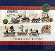 2020 Peanuts 8-piece Deluxe Holiday Train Set With Sally By Jim Shore 4062623