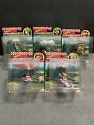 Hot Wheels Mario Kart Lot Of 5 Die-cast Cars With Gliders Complete Collection.