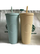Starbucks Mint Yellow Studded Cup Cold Green Butter Bling Venti 2021 + Siren Bag