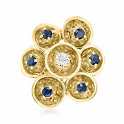 Vintage Diamond And Sapphire Ring In 14kt Gold Size 5.5