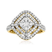 Vintage Diamond Open-space Cluster Ring In 14kt Gold Size 7