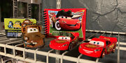 Disney Pixar The Cars Diecase Lot Of 3 Mater Mcqueen Loose Displayed Only