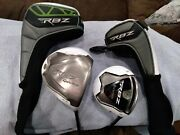 Taylormade Rbz Driver And 3 Wood Set W/covers. S-flex. Great Clubs Free Shipping