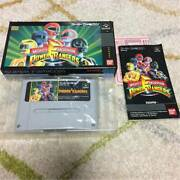 Sfc Mighty Morphing Power Rangers Morphin Super Nes With Box Theory