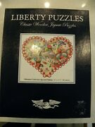 Liberty Puzzles Classic Wooden Jigsaw Valentine Collection Special Edition Euc