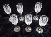 6 Nachtmann Traube High Sherry Glasses - Perfect Condition