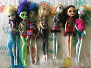 Lot Of 7 Incomplete Or Damaged Monster High Retired Dolls Clothes Lizzie Amanita