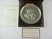 Unicorn Dyonisiaque Salvador Dali 1971 The Lincoln Mint Sterling Plate Sealed