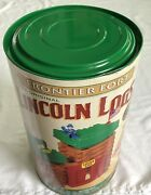 New Vintage Lincoln Logs Frontier Fort Set Officer Native American Chief Wooden