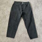 Vintage 560 Loose Fit Tapered Leg Fits 34x26 Mens Black Made In Usa