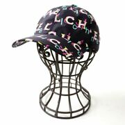 19p Women And039s With Coco Mark Button Logo Total Pattern Cap Hat Mult _61065