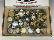 30+ Assorted Pocket Watch Pendants Parts And Repair - Lucerne Sheffield - 3383