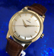 Vintage 1956 Automatic Manandrsquos Omega 14k Gf Stunning Dial Serviced W/ Warranty