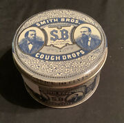Vintage Smith Brothers Cough Drop Tin - Made In Usa