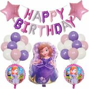 Sofia The First Happy Birthday Party Balloons Supplies For Kids Baby Shower Part