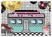 7x5ft 50s Retro Rock N Roll Diner Party Backdrop Sock Hop Dance Cosplay Prom Pho