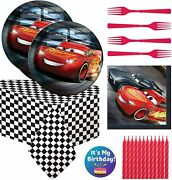Disney Cars Birthday Party Supplies And Decorations Featuring Lightning Mcqueen 53