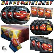 Disney Cars Party Supplies And Decorations For Birthday Serves 16 Guests Perfe