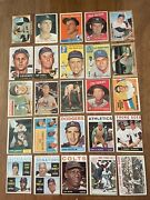 Lot Of 25 1950's/1960's Vintage Baseball Cards - Low Grade Incl. 1964 Koufax