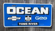 Ocean Dealership License Plate Toms River New Jersey Chrysler Jeep Chevy