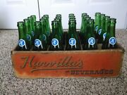 Vintage Crate Of 24 Harvillaand039s Wake-up Acl Soda Bottles Minersville Pa 7 Oz.