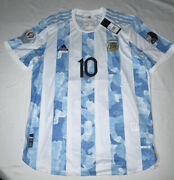 Argentina 2021 Lionel Messi 10 Heat.rdy Match Jersey Copa America + Patches Xl
