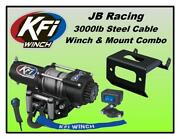 3000lb Kfi Winch And Mount Combo-yamaha Grizzly 660 2002-2008