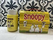 Snoopy Doghouse Thermos-brand Vintage Lunchbox 1968 With Thermos