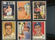 1952 Topps 64 Card Lot With Stars Hofers Short Prints