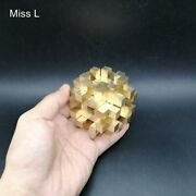 Cross Structure 3d Puzzle Chinese Kong Ming Lock Collection Hobby Copper Metal
