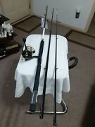 Spinning Fishing Rod Cccs14' 3pc Med Action And Reel Bass Pro Shops Lot B80