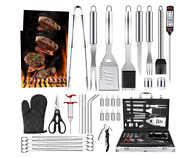 39pcs Bbq Grill Accessories Tools Set Steel Stainless Grilling Barbecue Case New