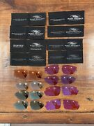 Lot Of 8 Rudy Project Lenses Racing Red Laser Orange Candy Pink Bronze