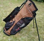 Taylormade Stand Golf Bag Coors Light Beer Golf Bag Good Condition Brown Black