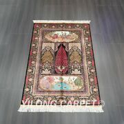 Yilong 4and039x6and039 Handwoven Silk Carpet Antistatic Home Decor Luxury Rug Z550a