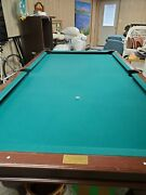 Mint Condition Pool Table And Accessories Classic Green Felt Barely Used.andnbspandnbsp