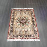 Yilong 4and039x6and039 Handmade Silk Carpet Oriental Indoor Home Furniture Rug Z541a