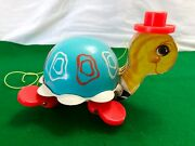 Fisher Price Vintage 1962 Tip Toe Turtle Pull Along Toy