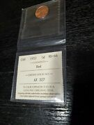 1952 Canada 1 Cent Coin Graded Ms-64 Red High Grade Nice Penny Iccs No Taxe Look