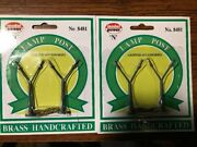 N Scale Model Power 8481 Brass Handcrafted Double Head Lamp Posts. 4 Lamps