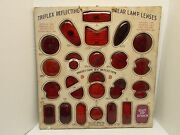 Vintage Triflex Rear Lamp Tail Light Display Board By Kd Lamp Co. 21 Square