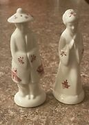 Oriental Asian Man And Woman Salt And Pepper Shakers Churchill Red Willow Pattern